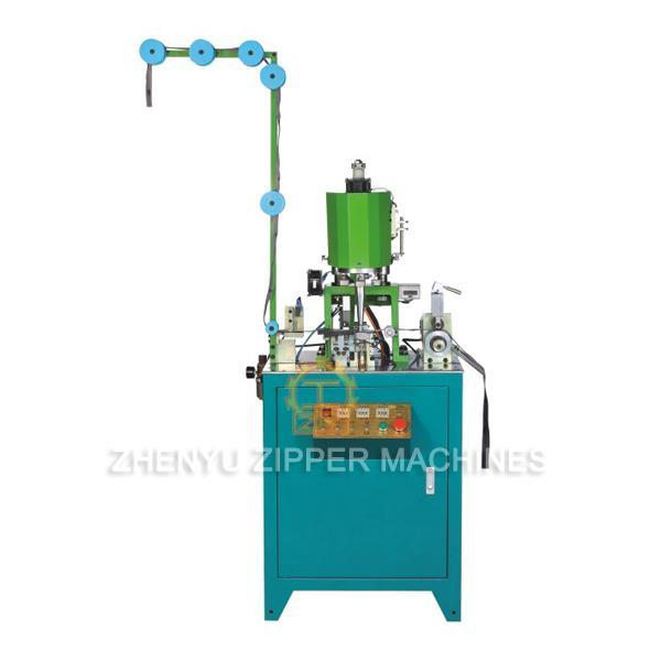 Automatic Nylon Zipper Ultrasonic Wire Welding & Double Closed-end Bottom Stop Machine ZY-208N-B
