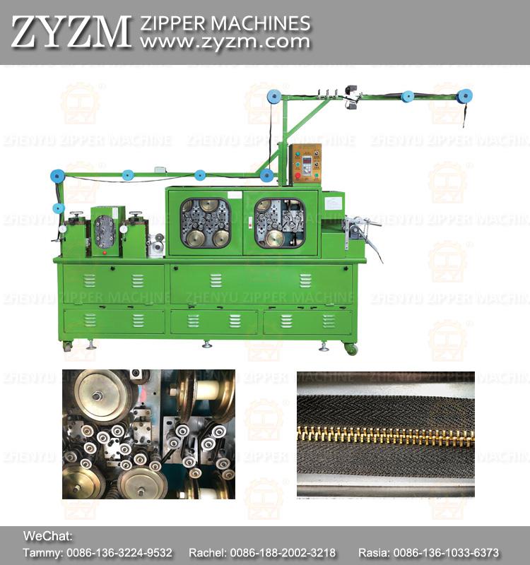 zipper machine equipment, polishing machine for metal zipper
