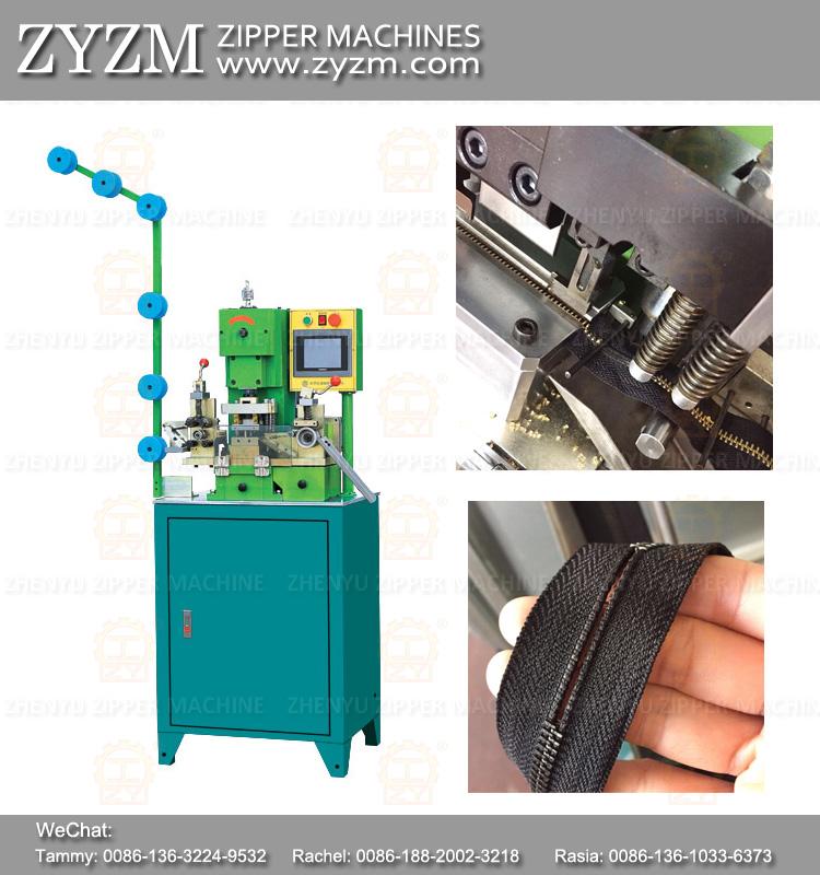 gapping machine, zipper machine for metal