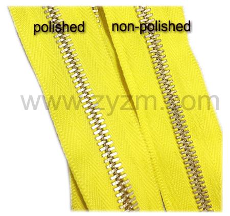 polished zipper