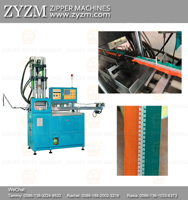 derlin zipper machine, mold zipper, plastic injection molding machine