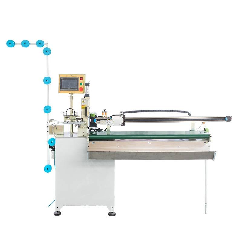 Full-automatic Closed-end Zipper Air-operated Towing Zig Zag Cutting machine ZY-708-B
