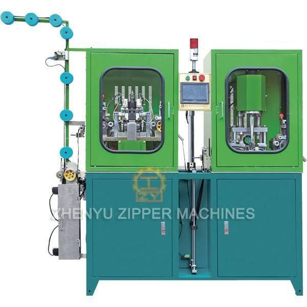 Auto Invisable Zipper Gapping, Stripping and Bottom Stop Machine ZY-104I-F