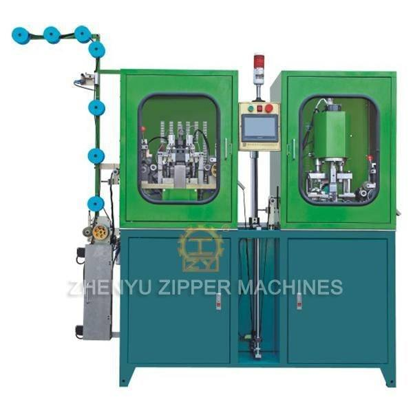 Auto Nylon Zipper Gapping, Stripping & Two-way Welding Machine ZY-102N-F