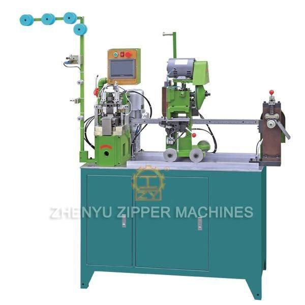 Full-auto Nylon Zipper  Gapping & Stripping Machine with Bottom Stop ZY-103N-E