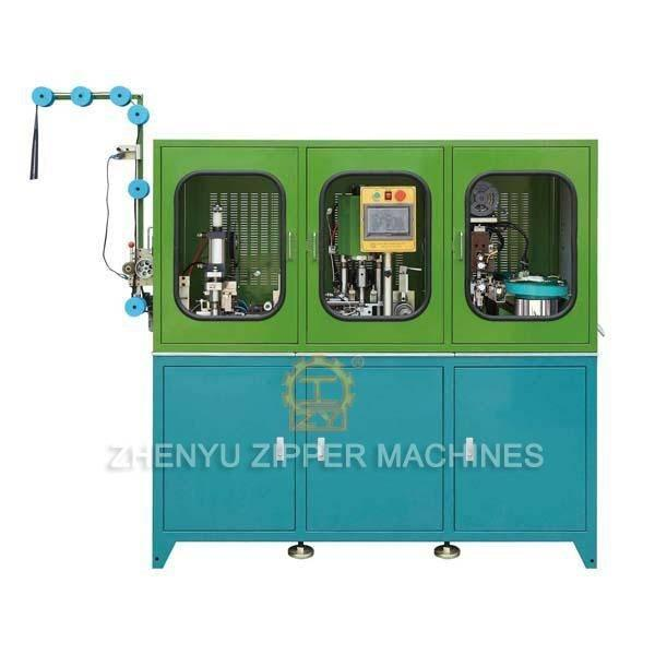 Auto Metal Zipper Sealing, Ultrasonic Punching, Pin Box Setting Machine ( 3 in 1 Machine) ZY-801