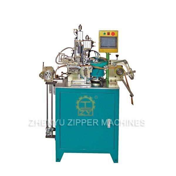Auto Metal Zipper Particles Double Top Stop Machine ZY-409M-B