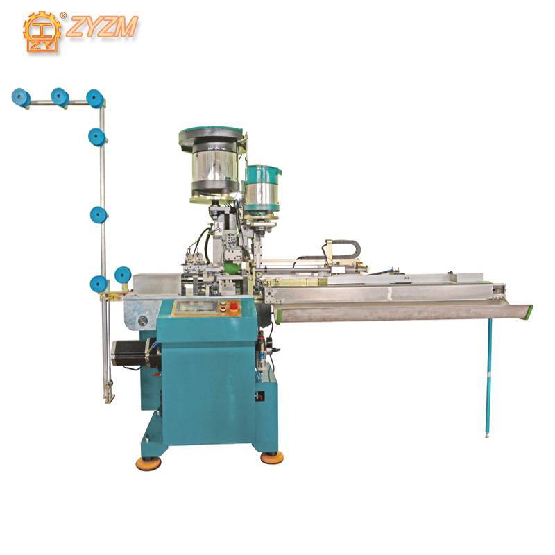 Automatic Metal Cutting, Slider Mounting, Double Top Stop Machine (Zipper 3 in 1 Machine) ZY-802M