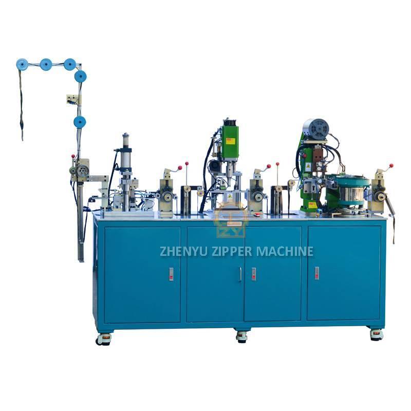 Auto Metal Zipper Sealing, Ultrasonic Punching, Pin Box Setting Machine ( 3 in 1 Machine) ZY-801