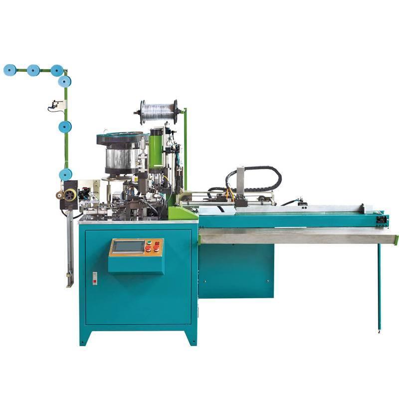 Fully automatic Nylon Cutting, Slider mounting, Ultrasonic U type Top Stop Machine( 3-in-1 machine) ZY-802N
