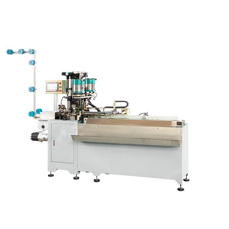 Full-automatic Metal Slider Mounting, Double Top Stop and Cutting Machine (3 in 1 Machine) ZY-802M