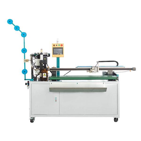 ZY-709N-D AUTO ULTRASONIC SLIDER MOUNTING, DOUBLE WELDING BOTTOM STOP AND CUTTING MACHINE
