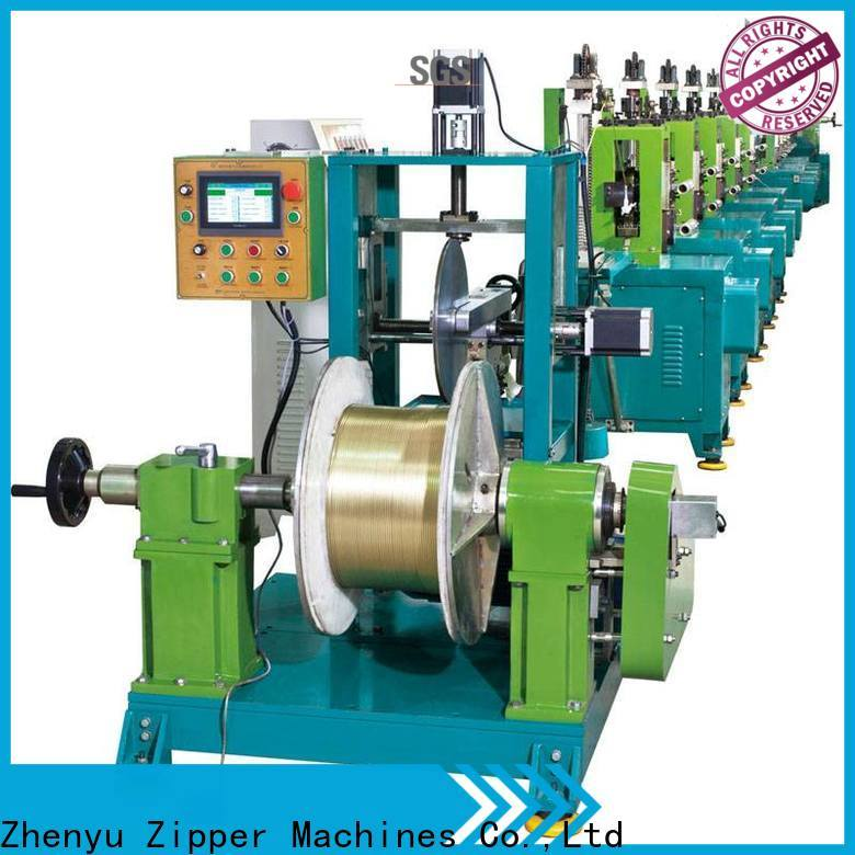Zhenyu News metal zipper machine factory for zipper manufacturer