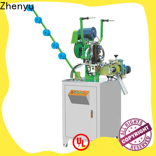 Zhenyu Best metal slider mounting top stop machine manufacturers for apparel industry