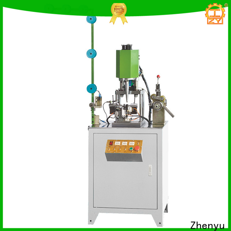 Custom metal zipper bottom stop machine suppliers Suppliers for zipper production